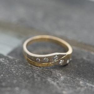 14 karaats bi color ring