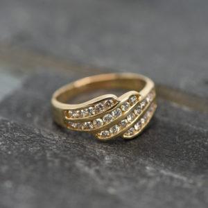 14 karaats geel gouden ring