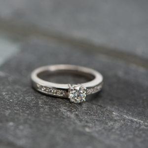 14 karaats witgouden ring