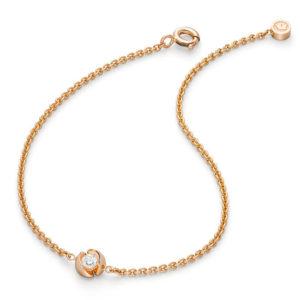 Design armband Calla met één briljant geslepen diamant