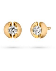 Design oorstekers Calla met één briljant geslepen diamant