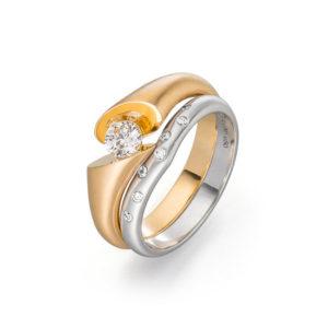 Design ring Calla met aanschuifring
