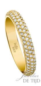 Gouden briljant ring Alena ® rondom gezet met 3 rijen briljant