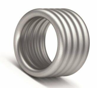 Edelstalen Niessing Design ring Wellen