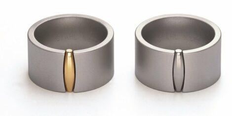 Edelstalen Niessing Design ring Zeppelin