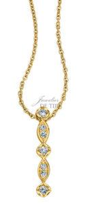 14 karaats gouden Design hanger aan collier Aurora