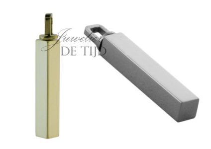 As hanger buis vierkant klein zilver of goud