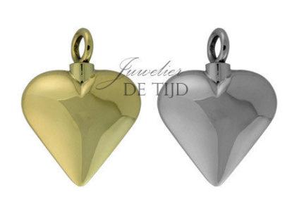 As hanger hart groot zilver of goud