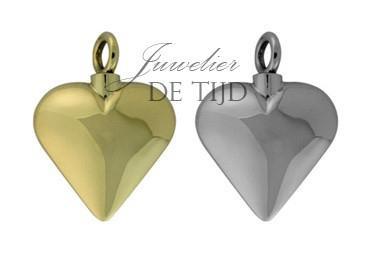 As hanger hart klein zilver of goud