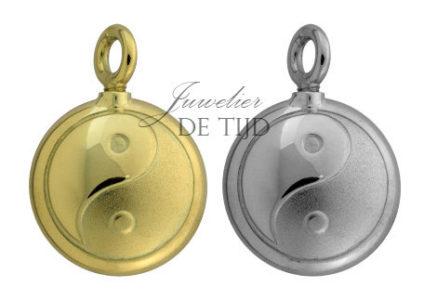 As hanger Ying Yang zilver of goud