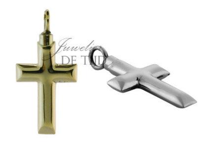 As hanger kruis strak zilver of goud