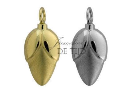 As hanger zilver of goud bloemknop