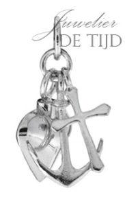 Zilveren as hanger Geloof-Hoop-Liefde