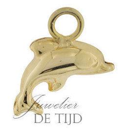 Gouden as hanger dolfijn klein