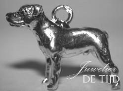 As hanger hond zilver of goud