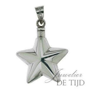 Zilveren as hanger ster