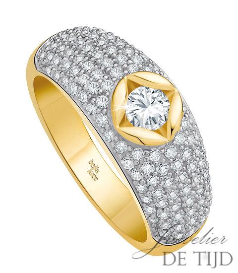 Geel gouden ring Belladiva ® met briljant