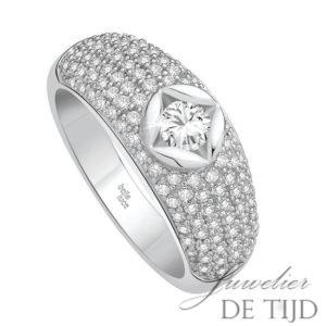 Wit gouden ring Belladiva ® met briljant
