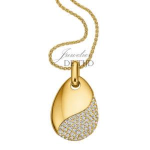 Geel gouden collier Grazia ® met briljant
