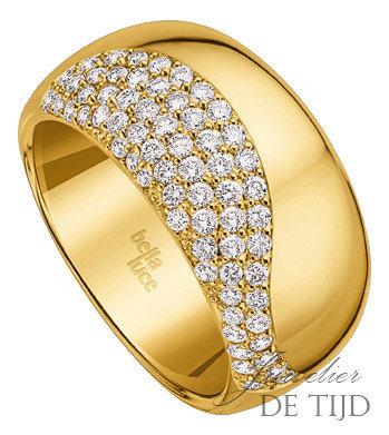 Geel gouden ring Grazia ® met briljant