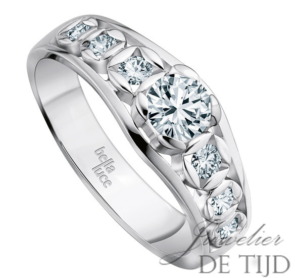 Wit gouden ring Lucia ® met briljant
