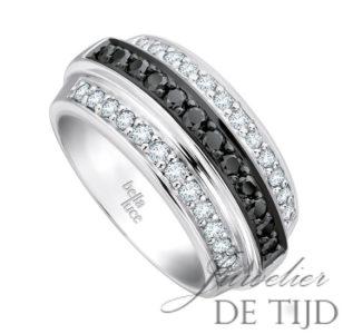 Wit gouden ring Marie ® met briljant
