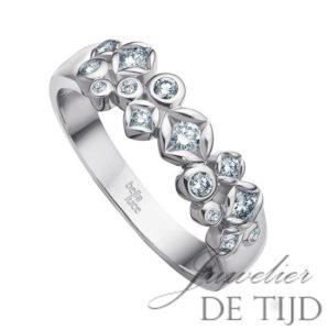 Wit gouden ring Paola ® met briljant