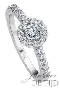 Wit gouden ring Piccolina ® met briljant