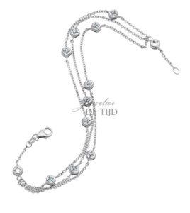 Wit gouden armband Stella ® met briljant