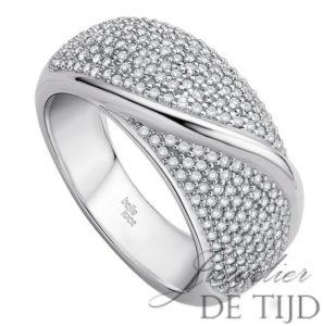 Wit gouden ring Tara ® met briljant