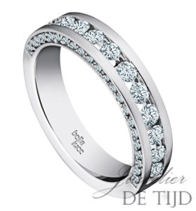 Wit gouden ring Yasmin ® met briljant