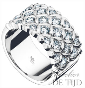Wit gouden ring Zarah ® met briljant
