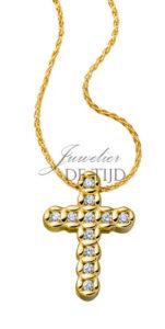 Geel gouden collier Zarah ® met briljant