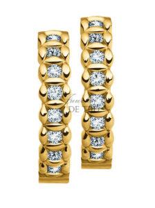 Geel gouden oorsteker Zarah ® met briljant