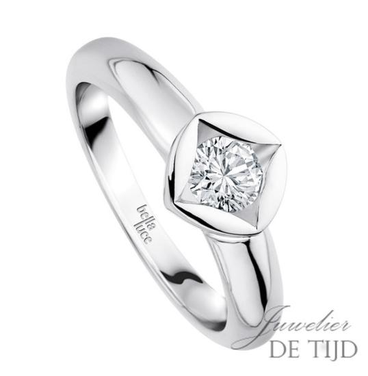 1,00ct briljant in 14 karaats gouden design solitaire ring