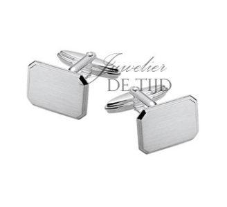 Zilveren manchetknopen gediamanteerd