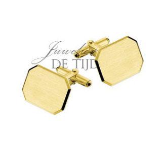 14 karaats geel gouden manchetknopen