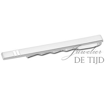 Zilveren dasschuif gediamanteerd