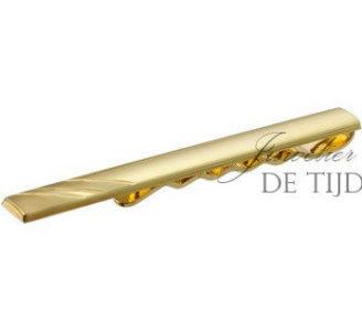 14 karaats geel gouden dasschuif gediamanteerd