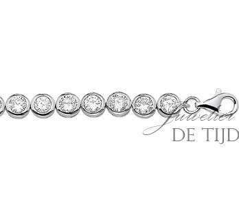 Witgoud-gerhodineerde zilveren tennisarmband