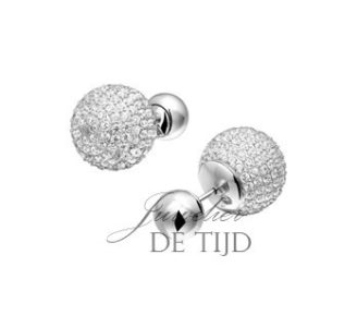 Witgoud-gerhodineerde zilveren oorstekers