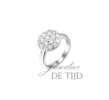 Witgoud-gerhodineerde zilveren ring