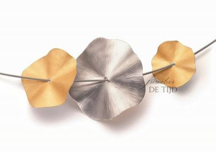 Gouden of platina hanger Blutenscheibe