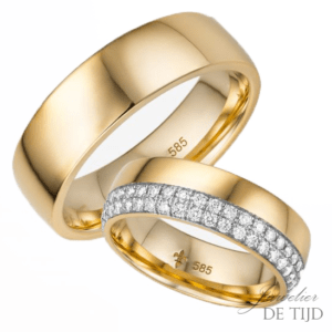 14 karaats geel gouden trouwringen Luisa