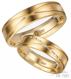 14 karaats geel gouden trouwringen Charlotte