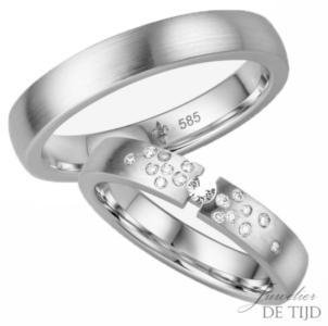 14 karaats wit gouden trouwringen Zara