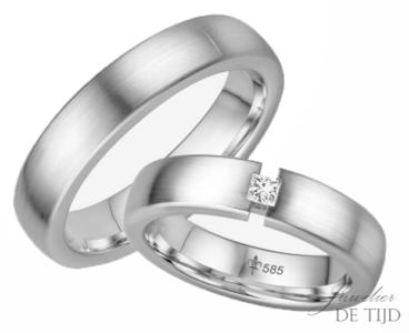 14 karaats wit gouden trouwringen Natacha