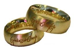 Naam / tekst / signature trouwringen