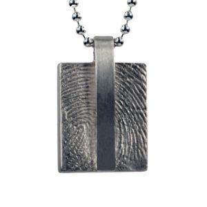 Gouden of zilveren hanger met vingerafdruk