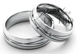 Wit gouden trouwringen 6mm breed met 0,03crt briljant geslepen diamant